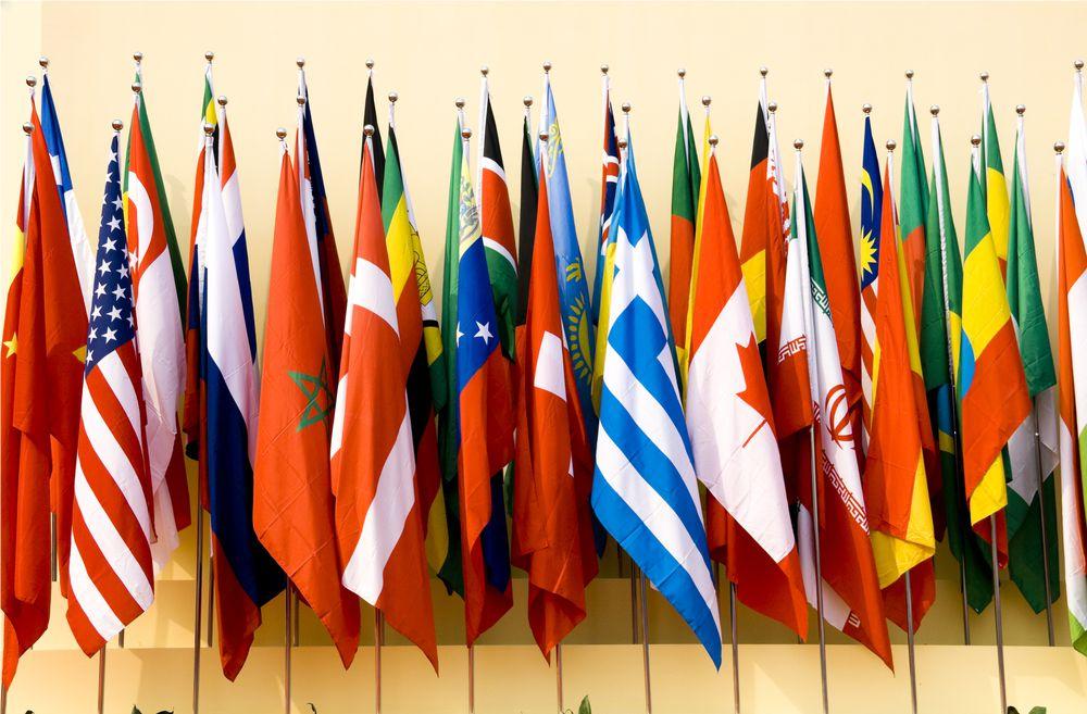 Nationalfahnen im Innenbereich
